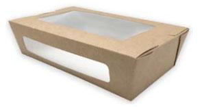 Sushi Box Kraft con ventana